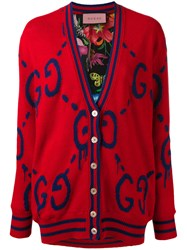 Guccighost Wool Cardigan Women Silk Wool S Red