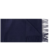 Barbour Plain Lambswool Scarf Blue