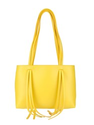 Mansur Gavriel Fringe Shoulder Bag Yellow