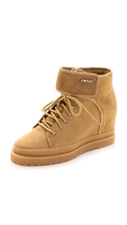 Dkny Carly Hiker Booties Camel