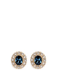 Givenchy Swarovski Crystal Pave Magnetic Earrings