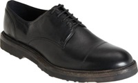 Barneys New York Thick Sole Cap Toe Blucher Black
