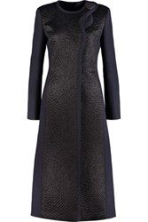 Roksanda Ilincic Evanton Mohair Paneled Wool Blend Coat Black