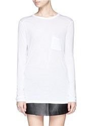 Alexander Wang Long Sleeve Pocket T Shirt White