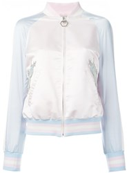 Philipp Plein Pink Bomber Jacket Pink Purple