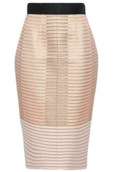 Amanda Wakeley Woman Metallic Jacquard Skirt Antique Rose