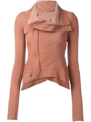 Rick Owens Funnel Neck Jacket Pink And Purple