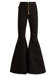 Ellery Ophelia High Rise Flared Jeans Black