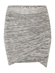Red Soul Tulip Textured Skirt Grey