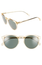 Raen 'Remmy' 51Mm Polarized Sunglasses Champagne Crystal Green