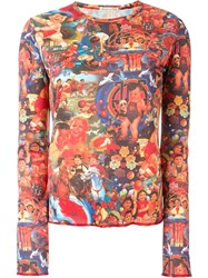 Jean Paul Gaultier Vintage Digital Print Top Red