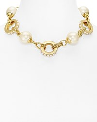 Kate Spade New York Link Statement Necklace 14 White Gold