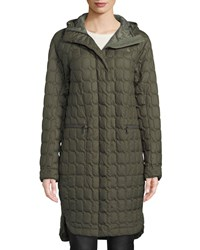The North Face Thermoball Insulated Duster Coat W Hood Green