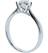 Carat Rosy Round 0.75Ct Solitaire Ring White
