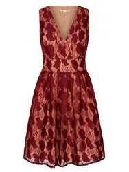 Yumi Vintage Lace Dress Red