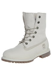 Timberland Authentics Laceup Boots Winter White Off White