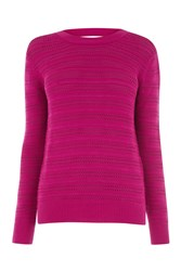 Warehouse Stitchy Open Back Jumper Hot Pink