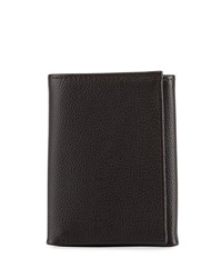 Neiman Marcus Rfid Trifold Leather Wallet Brown