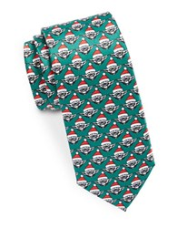 Star Wars Yoda Santa Printed Tie Hunter Green