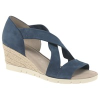 Gabor Lisette Wide Cross Strap Sandals Navy