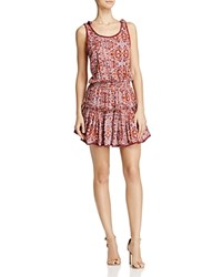 Misa Los Angeles Calista Ruffle Tank Dress Red Floral