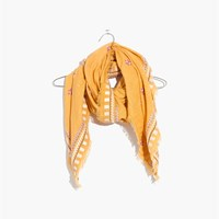 Madewell Embroidered Primrose Square Scarf Tungston Glow Multi