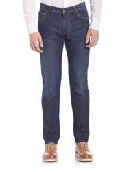 Corneliani Straight Leg Jeans Blue