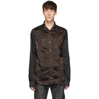 Rick Owens Black And Brown Faun Shirt