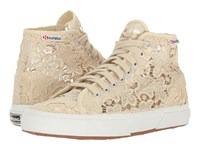Superga 2795 Macrame W Ivory Cotton Women's Lace Up Casual Shoes Gold