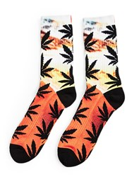 Huf Digital Plantlife Crew Sock Orange