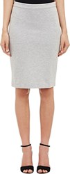 Barneys New York Ottoman Rib Skirt Grey