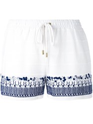 Michael Michael Kors Embroidery Shorts Women Cotton L White