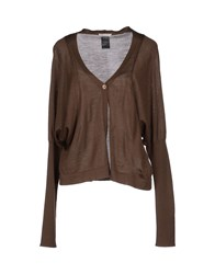 Crea Concept Knitwear Cardigans Women Dark Brown