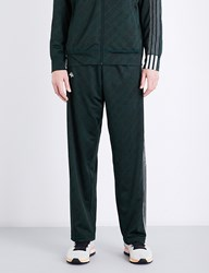 Adidas By Alexander Wang Logo Jacquard Jersey Jogging Bottoms Green