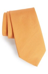 Southern Tide Dapper Dots Cotton And Silk Tie Orange