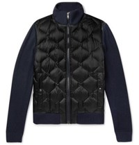 Hugo Boss Slim Fit Panelled Quilted Shell Jacket Navy