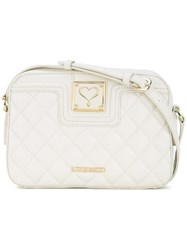 Love Moschino Quilted Crossbody Bag White