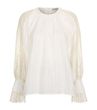 Etro Crochet Peasant Blouse Female White