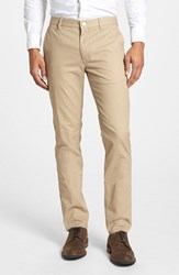 Men's Big And Tall Bonobos 'Cappu Chinos' Tailored Fit Washed Cotton Chinos True Khakis Beige