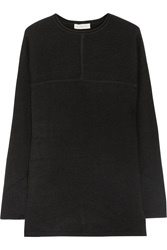 Tory Burch Deanna Ribbed Cashmere Sweater Black