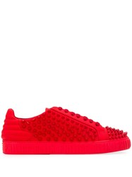 Philipp Plein Star Studded Sneakers Red