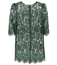Dolce And Gabbana Lace Top Green