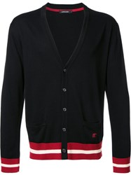 Loveless Striped Trim Cardigan Black