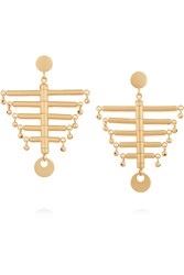 Paula Mendoza The Little Backbone Gold Plated Earrings Metallic
