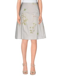 Maurizio Pecoraro Skirts Knee Length Skirts Women Light Grey
