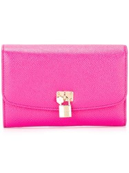 Dolce And Gabbana Dauphine Continental Wallet Pink Purple