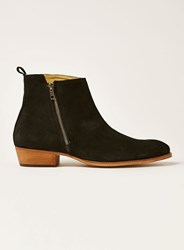 Topman Black Suede South Zip Boots