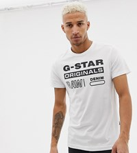 G Star Swando Graphic T Shirt In White Exclusive At Asos