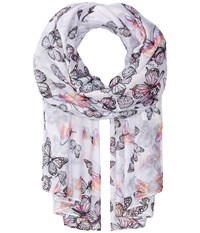 San Diego Hat Company Bss1735 Woven Scattered Butterfly Print Pink Scarves