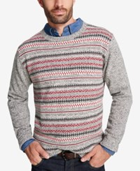 Weatherproof Vintage Men's Fair Isle Sweater Black